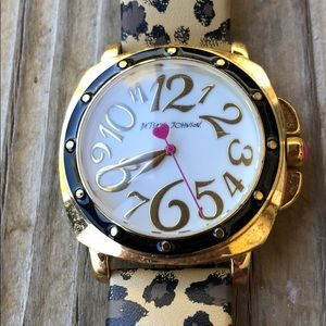 Betsey Johnson Leather Leopard Watch!